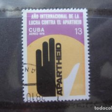 Sellos: *CUBA, 1978, AÑO INTERNACIONAL LUCHA CONTRA EL APARTHEID, YVERT 303 AEREO. Lote 255988115