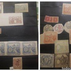 Sellos: O) 1890 CUBA, COLONIA ESPAÑOLA, IMPUESTO COLONIAL, SELLOS DE INGRESOS, MUY BONITO LOTE, XF. Lote 257357285