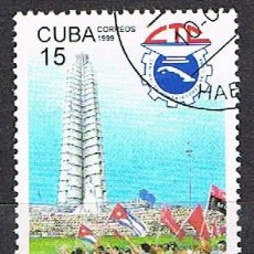 Sellos: CUBA Nº 4198, 60 ANIVERSARIO DE LA UNIÓN REVOLUCIONARIA DE TRABAJADORES, USADO, SERIE COMPLETA. Lote 257710460
