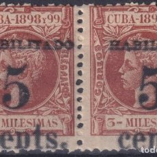 Sellos: 1899-481 CUBA 1899 5C S. 3C US OCCUPATION 2TH ISSUE PAIR PHILATELIC FORGERY.. Lote 257835530