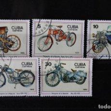 Sellos: CUBA 1985 SERIE MOTOCICLETAS YVER 2635-2639. Lote 258790050