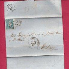 Sellos: CUBA. CARTA AÑO 1860. Lote 261224520