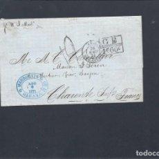 Sellos: CUBA.AÑO 1871.CARTA CIRCULACIÓN; HABANA - PARIS - BURDEOS.. Lote 261224790