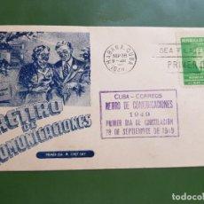 Sellos: CUBA FDC 1949 RETIRO 1C CASA MARTIN. Lote 261782250