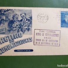 Sellos: CUBA FDC RETIRO 1949 5C CASA MARTIN. Lote 261782530