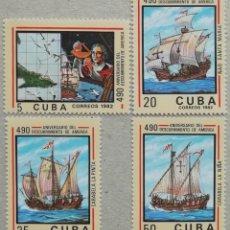 Sellos: 1982. CUBA. 2399 / 2402. 490 ANIV. DEL DESCUBRIMIENTO DE AMÉRICA. SERIE COMPLETA. NUEVO.. Lote 266750293