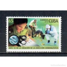 Sellos: ⚡ DISCOUNT CUBA 2018 THE 55TH ANNIVERSARY OF CUBAN CRIMINALISTICS MNH - POLICE, DOGS. Lote 268834279
