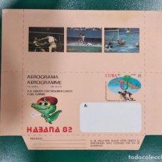 Sellos: AEROGRAMA CUBA AÑO 1982 XIV JUEGOS CENTROAMERICANOS Y DEL CARIBE. Lote 277458078