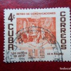 Sellos: *CUBA, 1957, RETIRO EMPLEADOS DE COMUNICACIONES, YVERT 451. Lote 278182258