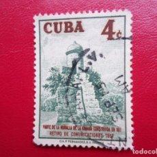Sellos: *CUBA, 1957, RETIRO EMPLEADOS DE COMUNICACIONES, YVERT 471. Lote 278182748