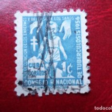 Sellos: *CUBA, 1956, SELLO DE BENEFICENCIA, YVERT 30. Lote 278476593