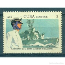Sellos: ⚡ DISCOUNT CUBA 1973 THE 10TH ANNIVERSARY OF THE REVOLUTIONARY NAVY MNH -. Lote 278521988