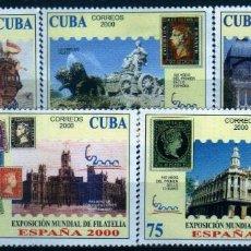 Sellos: GIROEXLIBRIS. CUBA.- 2000 CENTRO GALLEGO DE LA HABANA EXPOSICIÓN MUNDIAL DE FILATÉLIA ESPAÑA 2000. Lote 278563003