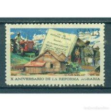 Sellos: 1467 CUBA 1969 NG THE 10TH ANNIVERSARY OF THE AGRARIAN REFORM. Lote 287499143