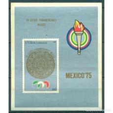 Sellos: 2081 CUBA 1975 MNH THE 7TH PAN-AMERICAN GAMES, MEXICO. Lote 287500343