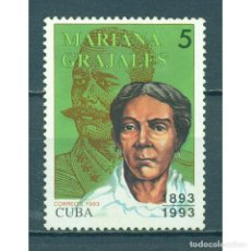 Sellos: 3733 CUBA 1993 MNH THE 100TH ANNIVERSARY OF THE DEATH OF MARIANA GRAJALES, 1808-1893. Lote 287502363