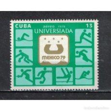 Sellos: 2431 CUBA 1979 MNH UNIVERSIADA 79 10TH WORLD UNIVERSITY GAMES, MEXICO CITY. Lote 287514348