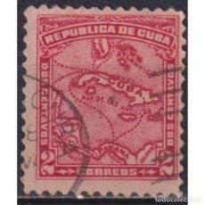 Sellos: 28-6 CUBA 1914 U MAP OF CUBA - 2 CENTAVO. Lote 287524083