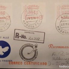 Sellos: O) 1984 CUBA, CARIBE, EBSEN, INTERNATIONALE BRIEFMARKEN MESSE, COPREFIL, CERTIFICATE MAIL, XF. Lote 289652273