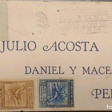 Sellos: O) 1931 CUBA, CARIBE, HURDLER, CENTRA AMERICA ATHLETIC GAMES, JULIO ACOSTA, DANIEL MACEO, PERICO, FD. Lote 289652688
