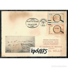 Sellos: CUBA 1973 FDC STAMP DAY - STAMP DAY. Lote 289949668