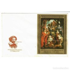 Sellos: CUBA 1977 FDC THE 400TH ANNIVERSARY OF THE BIRTH OF RUBENS - PAINTING, ARTISTS. Lote 289949673