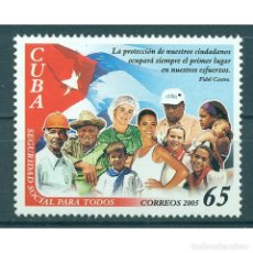 Sellos: 4711 CUBA 2005 MNH STATE SOCIAL SECURITY FOR ALL. Lote 293373393