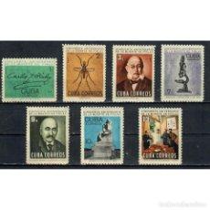 Sellos: 1054-2 CUBA 1965 MNH THE 50TH ANNIVERSARY OF THE DEATH OF CARLOS J. FINLAY, MALARIA RESEARCHER, 1833. Lote 293382113