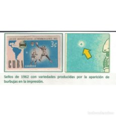 Sellos: R814 CUBA 1962 MNH LATIN AMERICAN UNIVERSIADE BASKETBALL - PRINT ERROR. Lote 293392618
