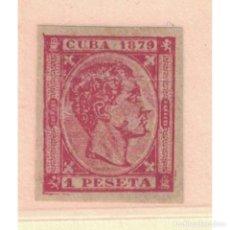 Sellos: 32R CUBA 1879 NG KING ALFONSO XII, CUBE INSCRIPTION 1879 - TRIAL EDITION RRR. Lote 293398453