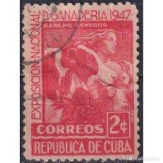 Sellos: 209-2 CUBA 1947 U NATIONAL CATTLE SHOW. Lote 293398808