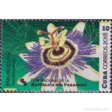 Sellos: 6364-1 CUBA 2018 MNH PASSIFLORA EDULIS - THE NATIONAL SYMBOL OF PARAGUAY. Lote 293405363