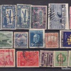 Sellos: FC3-227- CUBA GRAN LOTE SELLOS USADOS ANTIGUOS. VER 7 IMÁGENES. Lote 294481303