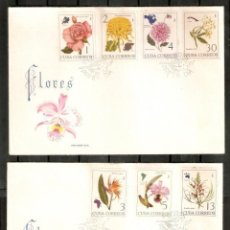 Sellos: CUBA. 1965. FDC FLORES. YT 865/71. Lote 295591948