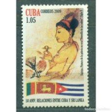Sellos: ⚡ DISCOUNT CUBA 2009 THE 50TH ANNIVERSARY OF THE CUBAN-SRI LANKA DIPLOMATIC RELATIONS MNH -. Lote 296026568