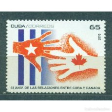 Sellos: ⚡ DISCOUNT CUBA 2010 THE 65TH ANNIVERSARY OF RELATIONS WITH CANADA MNH - FLAGS, DIPLOMACY. Lote 296026688