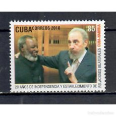 Sellos: ⚡ DISCOUNT CUBA 2010 THE 20TH ANNIVERSARY OF NAMIBIAN DECLRATION OF INDEPENDENCE MNH - FIDEL. Lote 296026693