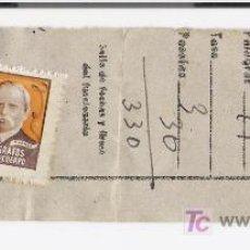 Sellos: SELLO DE COLEGIO DE HUERFANOS DE TELEGRAFOS JUNTO A RECIBO DE TELEGRAMA. Lote 10060685