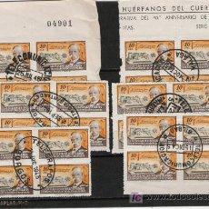 Sellos: RARISIMO LOTE DE BLOQUES DE CUATRO DEL CUERPO DE HUERFANOS DE CORREOS DE PROVINCIAS ESPAÑOLAS . Lote 27111880