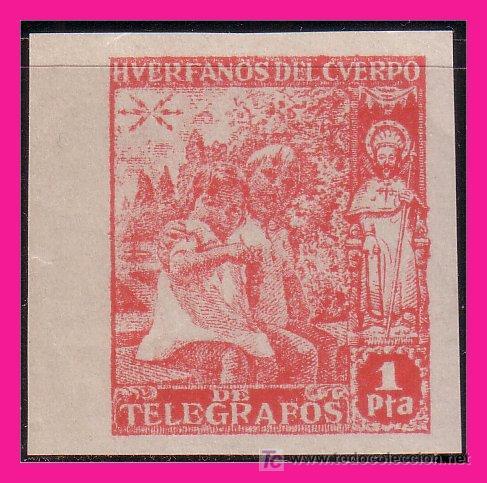 1938 NIÑOS Y SANTIAGO APÓSTOL HT Nº 20S * * LUJO (Sellos - España - Dependencias Postales - Beneficencia)