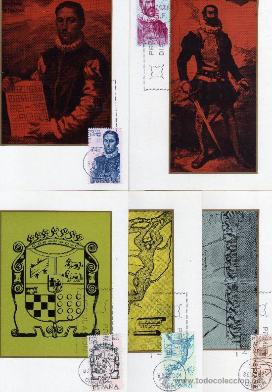TARJETAS MAXIMAS-FORJADORES DE AMERICA-EDIFIL Nº 1889/1893 (Sellos - España - Dependencias Postales - Tarjetas Máximas)