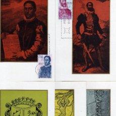 Sellos: TARJETAS MAXIMAS-FORJADORES DE AMERICA-EDIFIL Nº 1889/1893. Lote 20580338