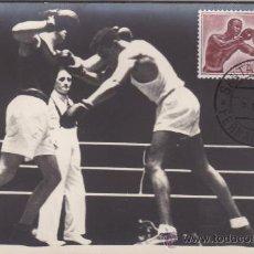 Sellos: GUINEA ESPAÑOLA BOXEO DEPORTES SERIE BASICA 1958 (EDIFIL 376) EN BONITA Y RARA TARJETA MAXIMA.. Lote 21908939