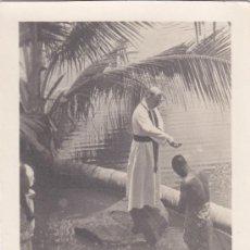 Timbres: GUINEA ESPAÑOLA RELIGION CENTENARIO PREFECTURA 1955 (EDIFIL 345) BONITA Y RARA TARJETA MAXIMA MOD 1.. Lote 22026104