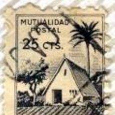 Sellos: MUTUALIDAD POSTAL, SELLO DE 25 CTS, 1,70 X 1,40 CM . Lote 16376995
