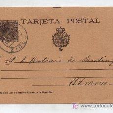 Sellos: ENTERO POSTAL Nº 36. 10 CTS. CASTAÑO,MATASELLADO EN CADIZ EN 1901.. Lote 20433798