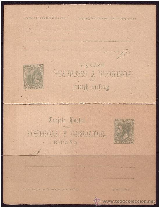 ENTERO POSTAL 1884 ALFONSO XII COMUNICACIONES, CATÁLOGO ÁNGEL LAIZ Nº 14 (*) (Sellos - España - Dependencias Postales - Entero Postales)