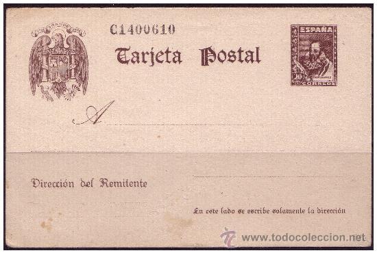 ENTERO POSTAL 1940 CERVANTES, CATÁLOGO ÁNGEL LAIZ Nº 86 (*) (Sellos - España - Dependencias Postales - Entero Postales)