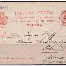 Sellos: ENTERO POSTAL 1910 ALFONSO XIII, CATÁLOGO ÁNGEL LAIZ Nº 53 (O). Lote 23466058