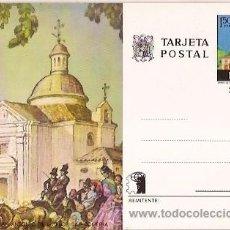 Sellos: ENTERO POSTAL FNMT ERMITA DE SAN ANTONIO DE LA FLORIDA ROMERIA ESPAÑA. Lote 28381888